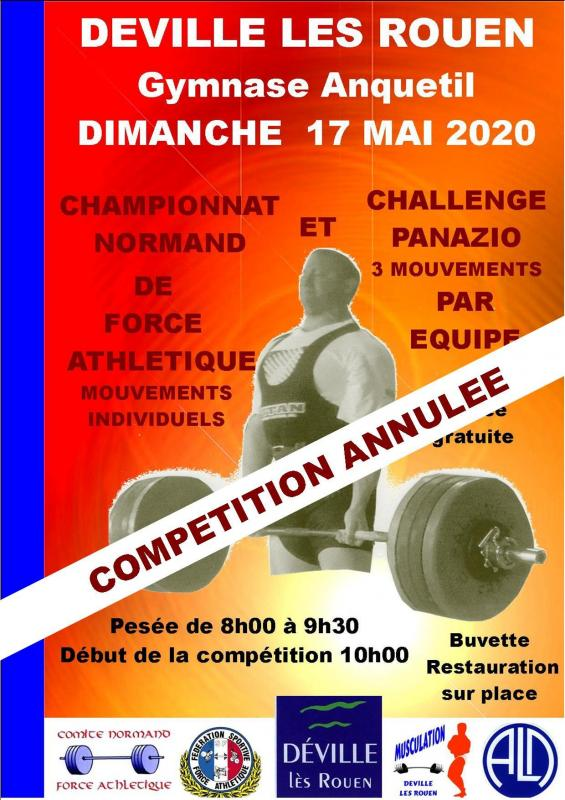 Affiche 17 mai 2020 annulation